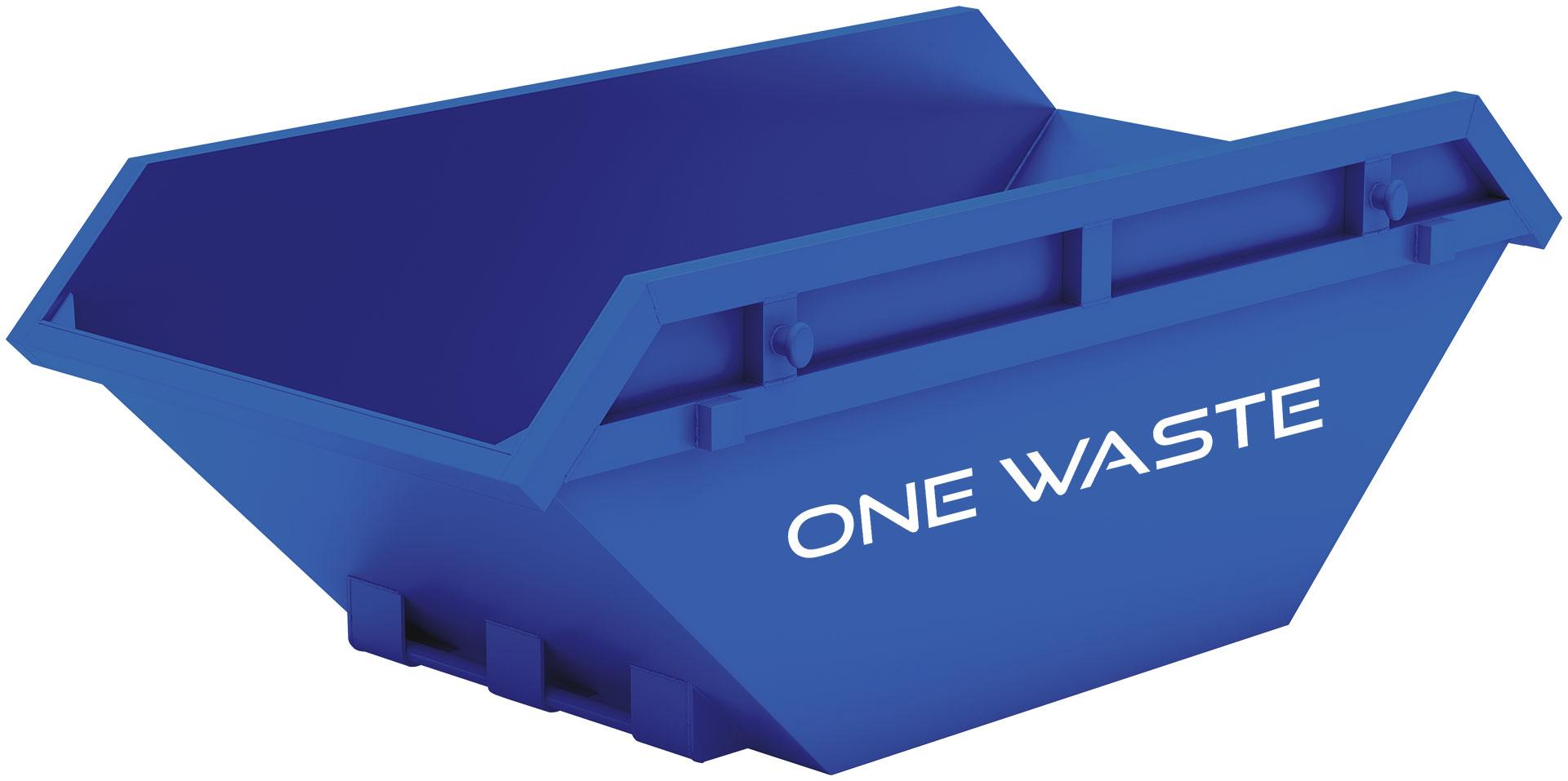 blue skip bin